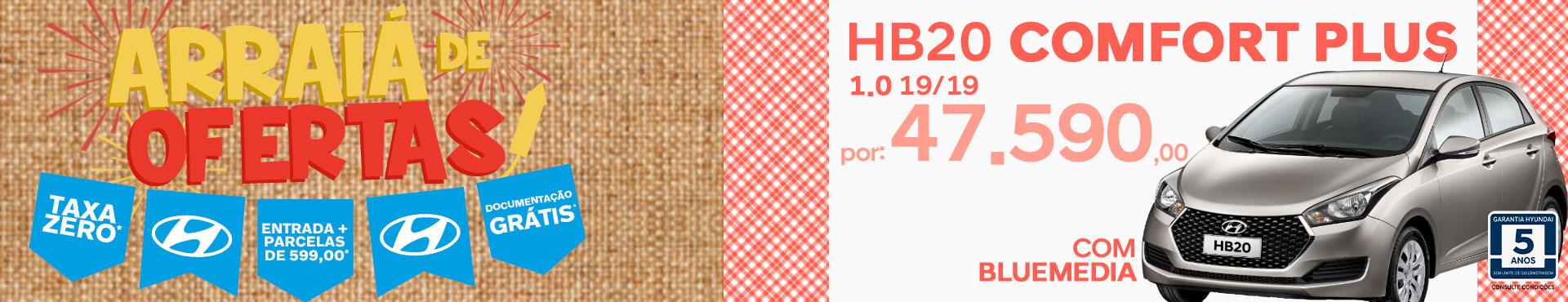 HB20 Comfort Plus c/ blueMedia